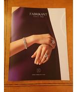 Fabrikant Fine Jewelry, Diamonds & Gems Color Catalog 36 pgs F - $22.00