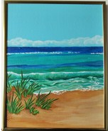 The Turning Tide, Original Acrylic Painting with Silver Frame 11 X 14 Fr... - $56.00