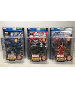 Marvel Legends Punisher, Beast, Elektra Series IV Figure Lot - Toy Biz 2... - $96.75