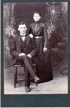 Howard Calhoon & Wife Ida Elkins Cabinet Photo - Loveland, Colorado - $17.50
