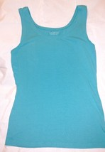 TALBOTS PETITES Womens SHIRT Sleeveless V-Neck Tank TOP Sz P Teal Aqua S... - $11.97