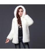 Warm Winter Thick Fur Women Faux Fur Coat Medium-long Hooded Rabbit Fur ... - $62.48+