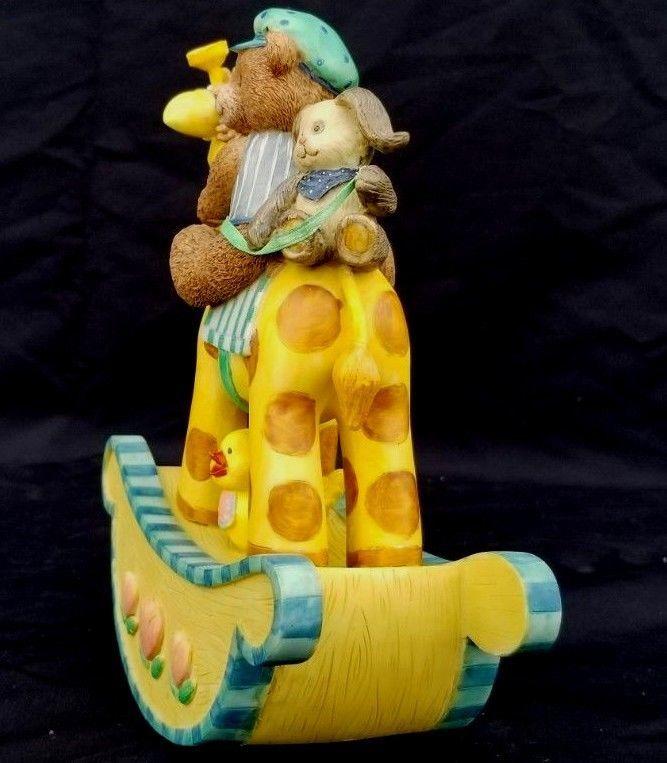 San Francisco Music Box Company Baby Express Rocking Giraffe Tune Rock A Bye Bab