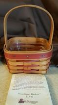 Longaberger 1993 Sweetheart Basket #11347 & Protector - $12.00