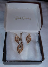 Vtg Sarah Coventry Filigree Gold Tone Faux Pearl Necklace Clip Earrings Set Box - $13.50