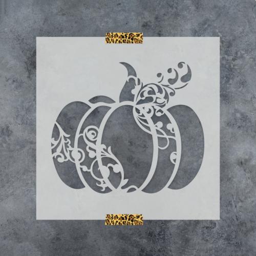 Pumpkin Decorative Stencil - Durable & Reusable Mylar Stencils