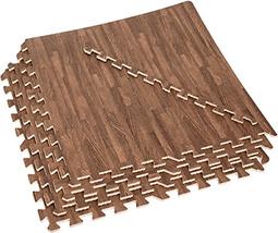 EVA Foam Exercise Mats - 96 Sq Ft Wood Grain Gym Floor Interlocking Mats... - $106.50