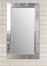 Restoration Hardware Style Aviator Pilot Wall Mirror XL Aluminum Rivets - $499.00