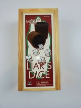 """Liar's Dice """"A Classic Bluffing Game"""" Wood Box Never Used - $14.25"""