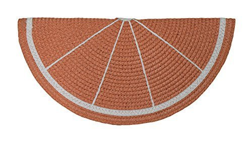Primary image for Grapefruit Slice Shaped Straw Clutch Purse