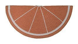 Grapefruit Slice Shaped Straw Clutch Purse - £11.83 GBP