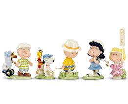 Lenox Peanuts Golf Team 5 Piece Figurine Set Charlie Brown Snoopy & Pals... - $102.90