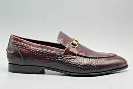 Handmade  Men's Maroon Crocodile Slip Ons Loafer Dress/Formal Shoes image 2