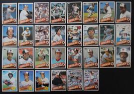 1985 Topps Baltimore Orioles Team Set of 31 Baseball Cards Missing #199 - $6.00
