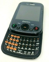 Pantech TXT8040VW Verizon Wireless Black Qwerty Slider Cell Phone Good ESN Phone - $14.01