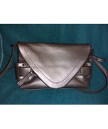 Nicole Miller New York metallic silver shoulder bag handbag purse - $25.00
