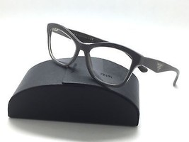 Prada Eyeglasses w Case VPR 29R UAM 101 Glossy Brown Acetate 54 17140 Authentic - $96.97