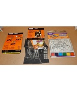 Halloween Foam Build A Scene Kit House & Pom-Pom Kit & Magic Paint Puzzl... - $6.94