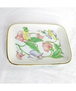 Country Floral Porcelain Soap Dish Trinket Tray Ben Rickert Fine China G... - $9.89