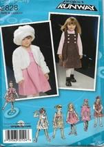 Project Runway Girls Dress Jumper Jacket Hat S-M-L Simplicity 2828 Uncut - $6.92