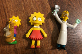 Simpson Figure Lot Maggie Lisa Mr Burns Saxophone Burger King Vintage - $9.89