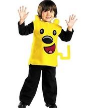 New Toddler Boys Yellow Halloween Costume Nick Jr Wubbzy! size M(3T-4T) - $13.71