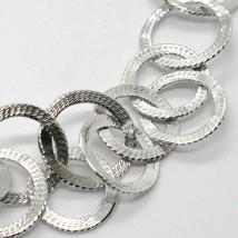 Choker Necklace 925 Silver with Circles Worked by Mary Jane Ielpo ,Made in Italy image 2