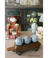 ORIENTAL FURNITURE DECORATIVE PORCELAIN BALLS (3) – ROUND OUT YOUR HOME ... - $39.95