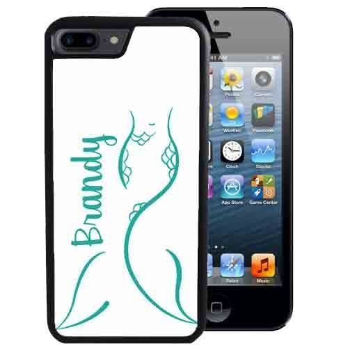 PERSONALIZED CASE FOR iPHONE X 8 7 6 5 SE 5C PLUS RUBBER SUMMER TEAL MERMAID