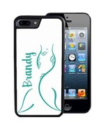 PERSONALIZED CASE FOR iPHONE X 8 7 6 5 SE 5C PLUS RUBBER SUMMER TEAL MER... - $13.98