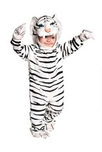 Underwraps Toddler's Tiger Costume Jumpsuit – White, Large 2T-4T - $33.95