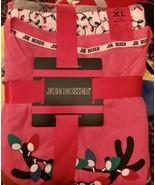 Joe Boxer 3 Piece Christmas Reindeer Jersey Pajama Set Womens XL NEW - $29.99