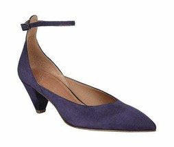 Women's Sarto by Franco Sarto Coralie Ankle Strap Dark Plum Kid Suede Leather Si - $116.33