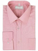 Men's Solid Long Sleeve Formal Button Up Standard Barrel Cuff Dress Shirt image 14