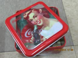 """Coca-Cola Tin Box Square Window """"Serve Coca-Cola at Home  """" - NEW - $8.66"""
