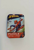 """Spiderman 5"""" X 7"""" Jigsaw Puzzle In 4 x 3 Collector's Tin 50 Pieces New - $4.99"""