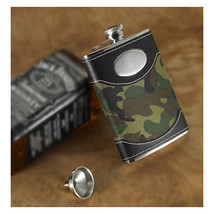 Engraved Green Camouflage Flask Personalized Flask Gifts for Men - €25,57 EUR