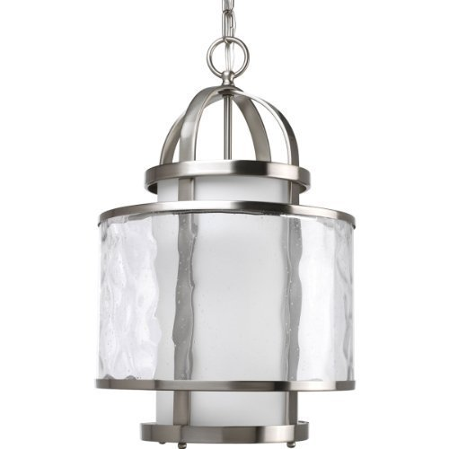 Primary image for Progress Lighting P3701-09 1-Light Bay Court Foyer Fixture, Brushed Nickel