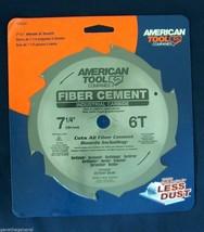 "5 American Tool 7 1/4"" X 6 Industrial Carbide Teeth Fiber Cement Saw Blade Hardi - $51.41"