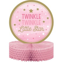 "One Little Star Girl 12"" x 9"" Honeycomb Centerpiece/Case of 6 - £31.45 GBP"