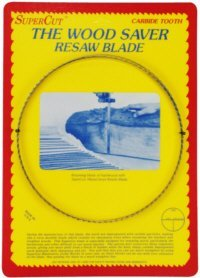 "Primary image for SuperCut B123S1T3 WoodSaver Resaw Bandsaw Blade, 123"" Long - 1"" Width; 3 Tooth;"