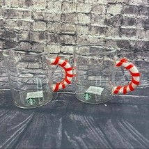 Starbucks Candy Cane Mugs 12 Oz Set of 2 ceramic cups - $45.90