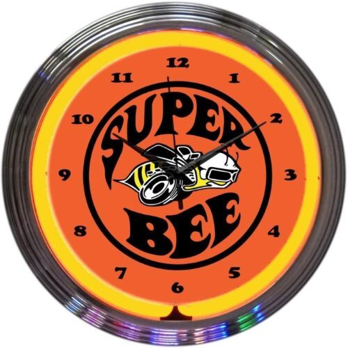 "Primary image for Super Bee Play Room Neon Clock 15""x15"""