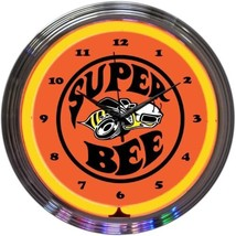 "Super Bee Play Room Neon Clock 15""x15"" - $69.00"