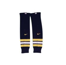 Vintage Nike Senior Large University of Michigan Team Issued Hockey Socks Blue - $39.55