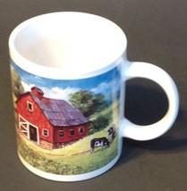 Coffee Mug Tractor Red Barn Farm Chestnut Creek Porcelain  - $16.78