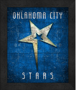 "Oklahoma Stars ""Retro College Logo Map"" 13x16 Framed Print  - $39.95"