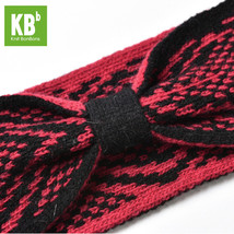 Pink Blue Red Aztec Knitted Bowtie Headbands for Winter in Bulk - $20.09+