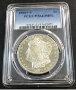 1880/9-S Morgan Silver Dollar PCGS MS64 DMPL Deep Mirror Proof Like - $519.75
