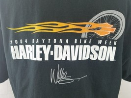 Harley-Davidson Men's T-Shirt 2004 Daytona Bike Week Black Size: XL - $17.44